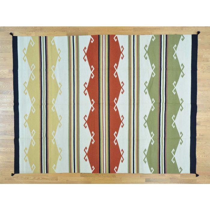 9'x12' Navajo Design Kilim Flat Weave Pure Wool Hand Woven ...