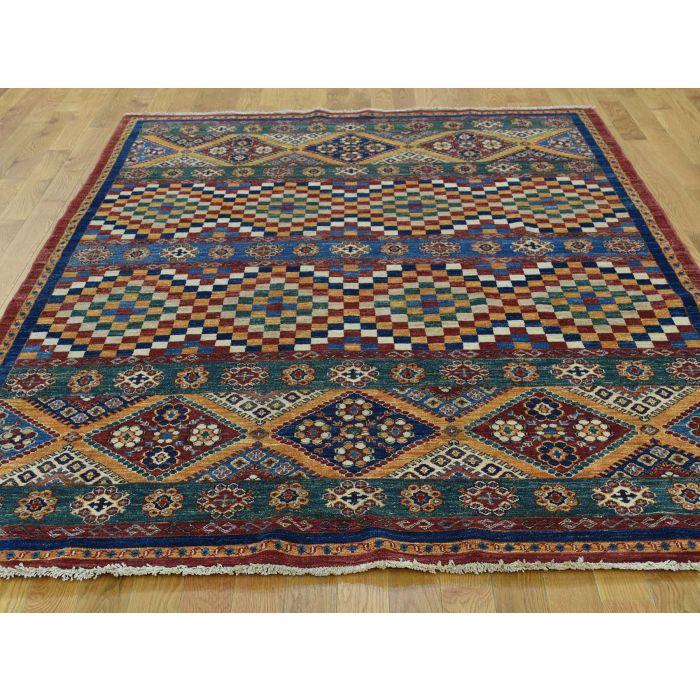 Super kazzak wool rug #1095