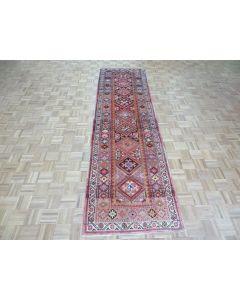 3'2 x 11'6 Runner Hand Knotted Vintage Turkish Tribal Oriental Rug G7697