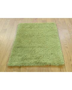 """2'x3'1"""" Hand Knotted 100 Percent Wool Green Gabbeh Oriental Rug G36254"""