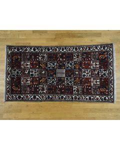 "5'5""x9'10"" Hand-Knotted Pure Wool Bakhtiari Garden Design Wide Runner Rug G36514"