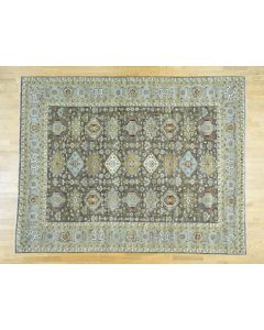 "10'x13'9"" Hand-Knotted Pure Wool Karajeh Design Oriental Rug G36549"