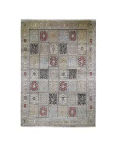 "12'x17'4"" Kashmir Silk 576 KPSI Panel Design Mansion Size Oriental Rug G46912"