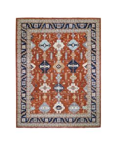 """12'x14'8"""" Oversized Hand-Knotted Peshawar Tribal Oriental Rug G46969"""
