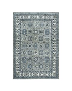 """10'1""""x13'8"""" Gray Pure Wool Hand-Knotted Fine Peshawar  Oriental Rug G51201"""