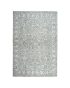 "10'1""x14' White Wash Peshawar Pure Wool Hand-Knotted Oriental Rug G51620"